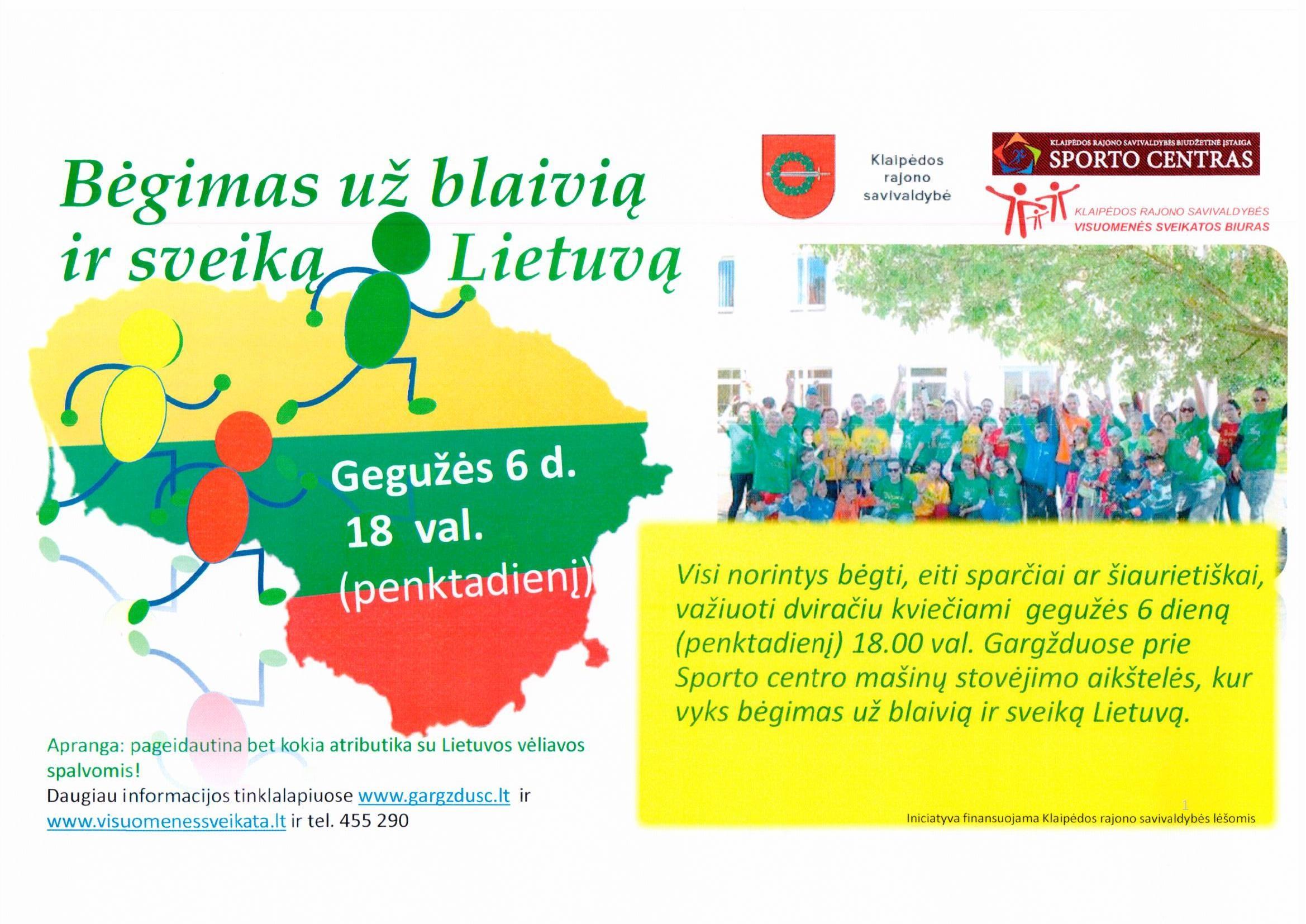 Dalyvauk bėgime už blaivią ir sveiką Lietuvą