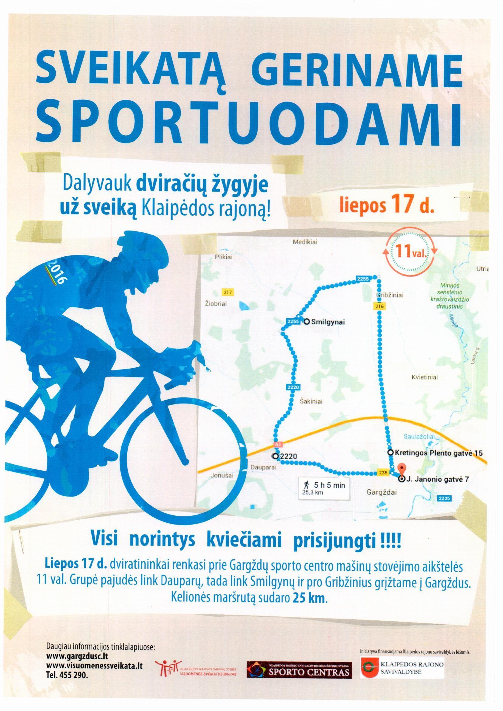 Tęsiasi kelionės dviračiu po Klaipėdos rajoną