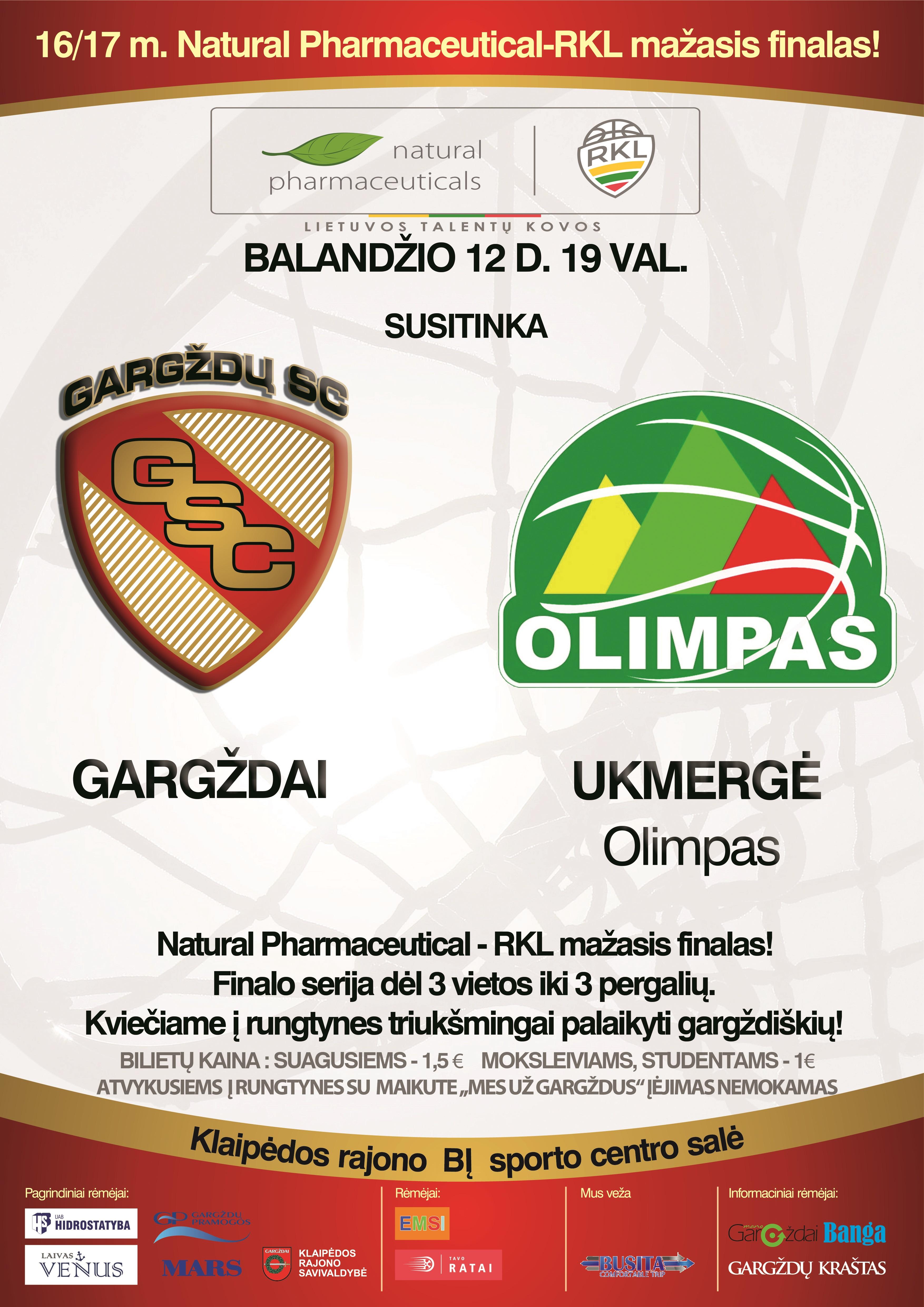 """Gargždų SC vs Ukmergės """"Olimpas"""""""