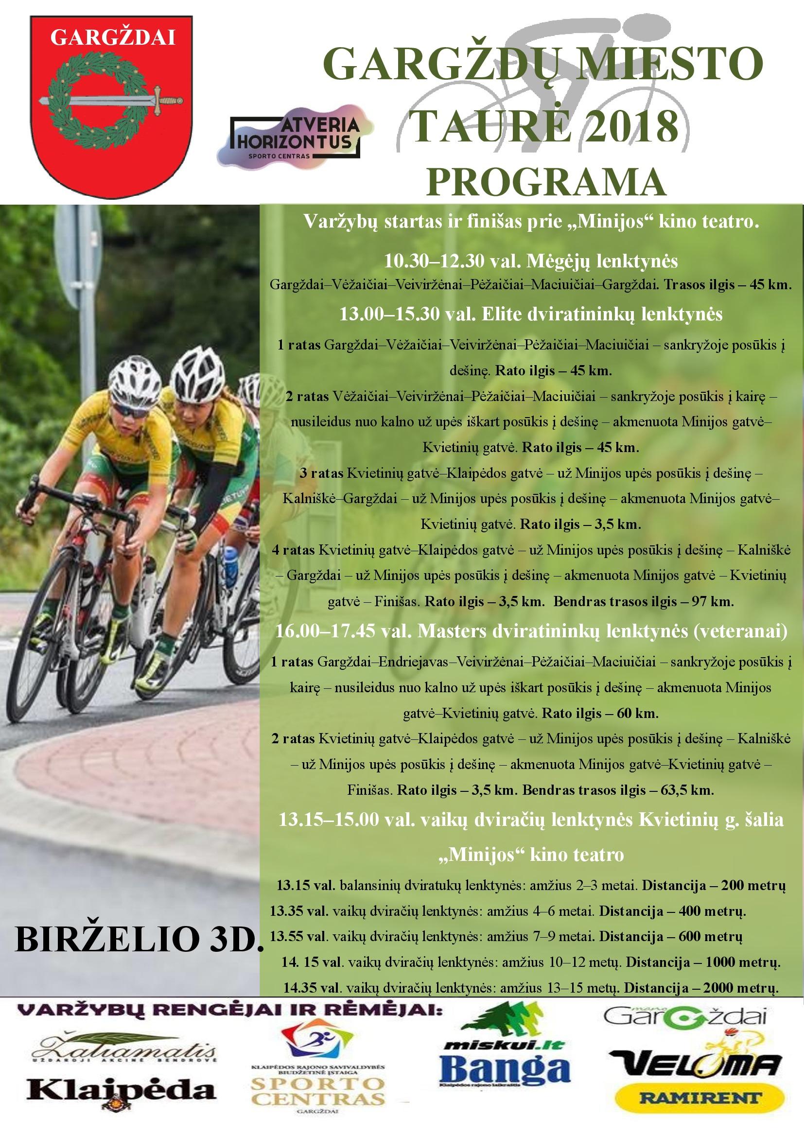 Gargždai vėl taps dviračių sostine (programa, registracija)