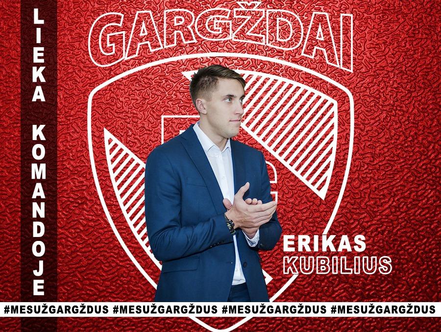"""BC """"Gargždai"""" ekipą treniruos jaunasis Erikas Kubilius"""