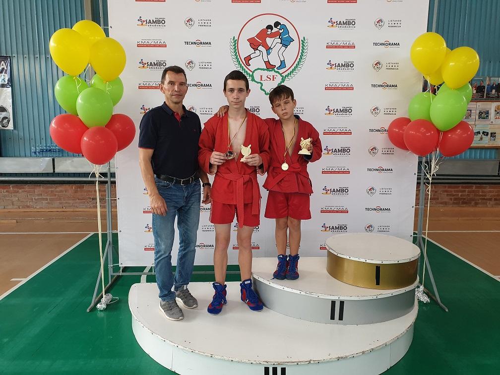 Nojus Vaitkus – Lietuvos sambo vaikų čempionato nugalėtojas