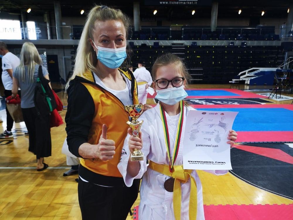 Gargždiškei Urtei Jonauskaitei – Lietuvos karatė čempionato bronza
