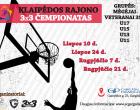 Prasideda registracija į Klaipėdos rajono krepšinio 3×3 čempionatą